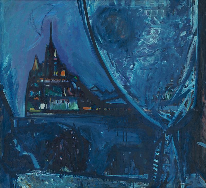 Viliam Chmel – Katedrála v noci, 1949, Slovenská národná galéria