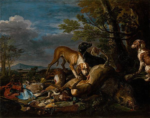 Jan Fyt, David de Coninck - Poľovnícke zátišie so psami
