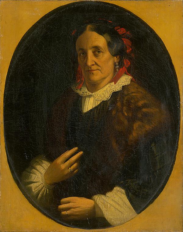 Rakúsky maliar z 2. polovice 19. storočia – Portrét ženy
