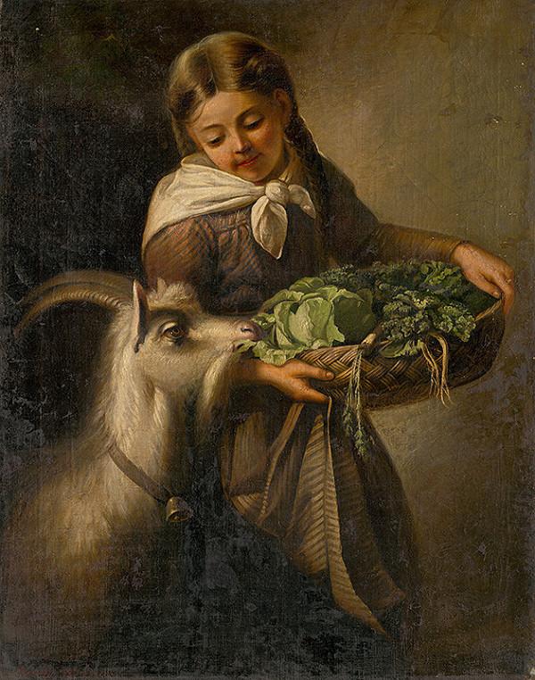 Stredoeurópsky maliar z 2. polovice 19. storočia – Dievča s kozou
