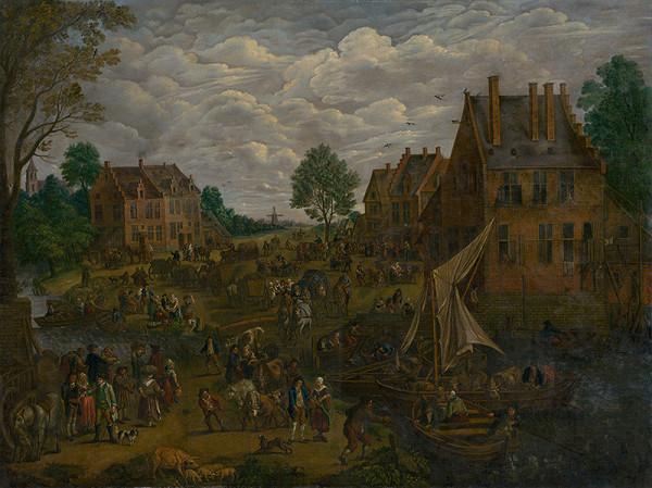 Jan Brueghel st., Západoeurópsky majster zo 17. storočia – Holandský jarmok
