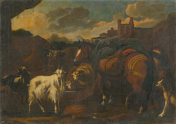 Nemecký maliar z 2. tretiny 18. storočia - Domáce zvieratá