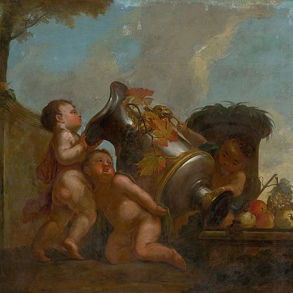 Stredoeurópsky maliar z 18. storočia – Anjeli s vázou II.