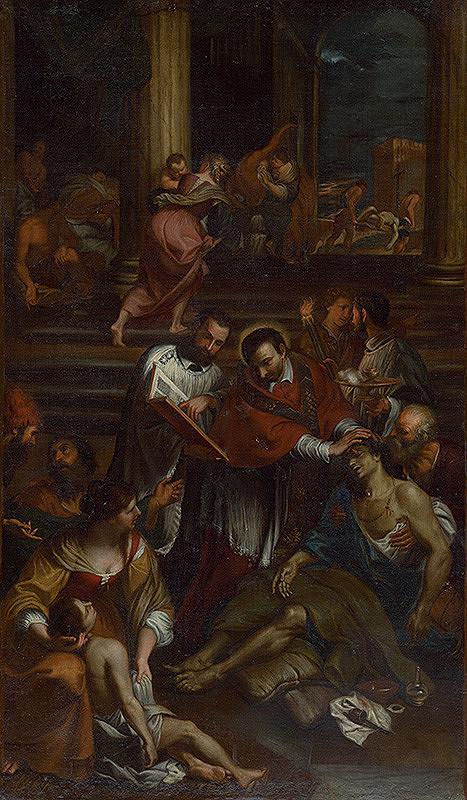 Giovanni Bonatti, Taliansky maliar zo začiatku 17. storočia, Stredoeurópsky maliar z 2. tretiny 18. storočia - Sv. Karol Borromejský medzi chorými postihnutými morom