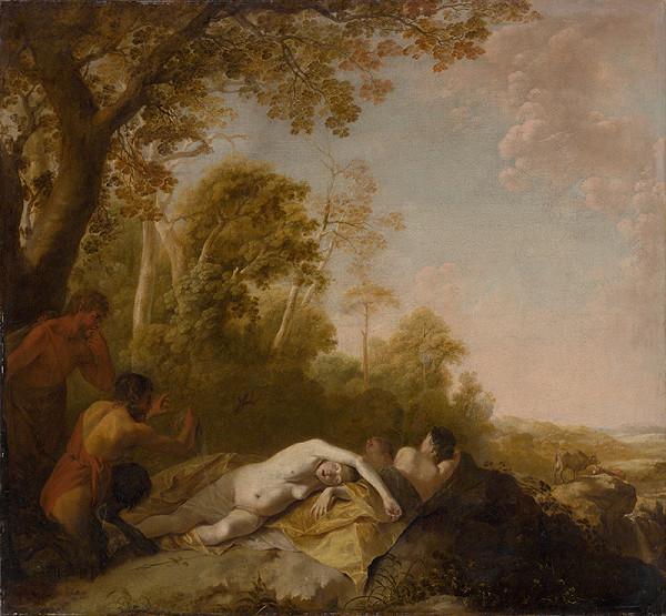 Dirck van der Lisse - Spiace nymfy - Zvedaví satyrovia