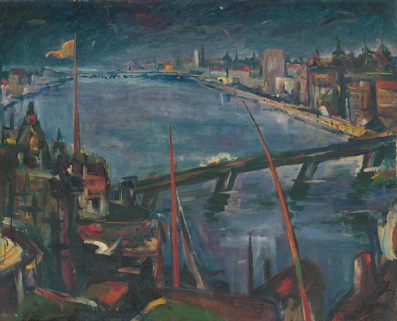 Viliam Chmel - Mesto pri rieke, 1943, Slovenská národná galéria