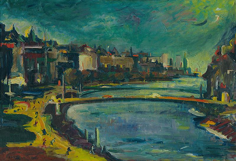 Viliam Chmel – Motív z Viedne, 1943, Slovenská národná galéria