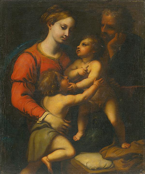 Taliansky maliar zo 16. storočia, Taliansky maliar - Svätá rodina so sv. Jánom Krstiteľom