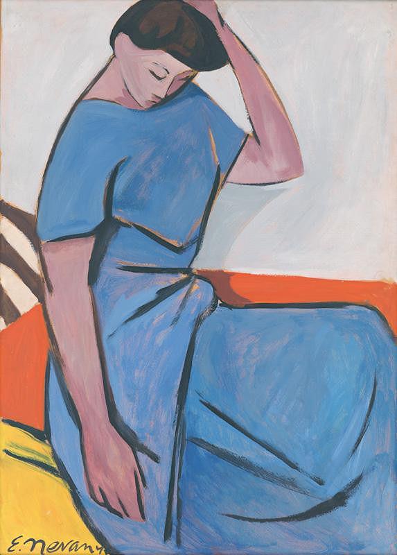 Eugen Nevan - Sediaca žena
