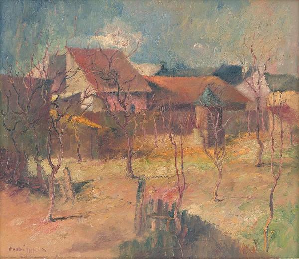 Július Szabó – Domy v záhrade