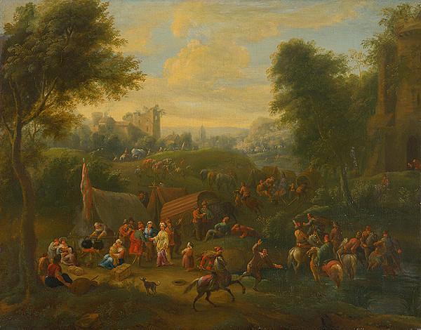 Stredoeurópsky maliar z 18. storočia – Krajina s figurálnou štafážou