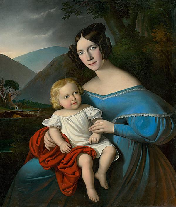 Stredoeurópsky maliar z 1. polovice 19. storočia, Jakab Marastoni - Matka s dieťaťom