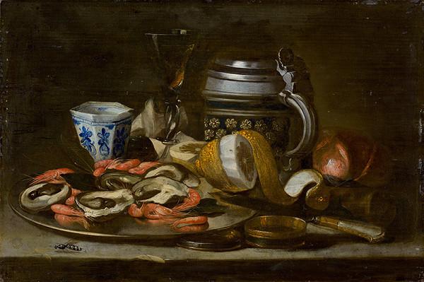 Nemecký maliar z prelomu 17. - 18. storočia, Nemecký maliar zo 17. storočia – Zátišie s rakmi a ustricami