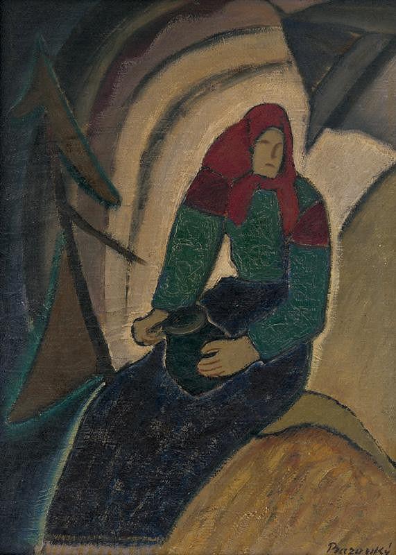 Miloš Alexander Bazovský – Sediaca žena
