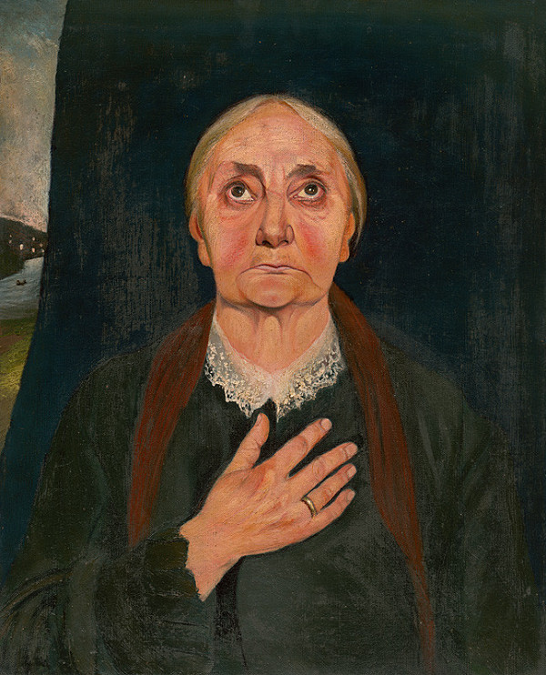 Tivadar Csontváry – Modliaca sa starenka