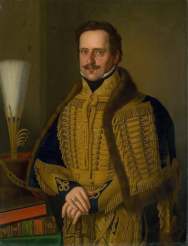 Jozef Czauczik - Portrét špišského župana grófa Karola Csákyho v slávnostnej uniforme