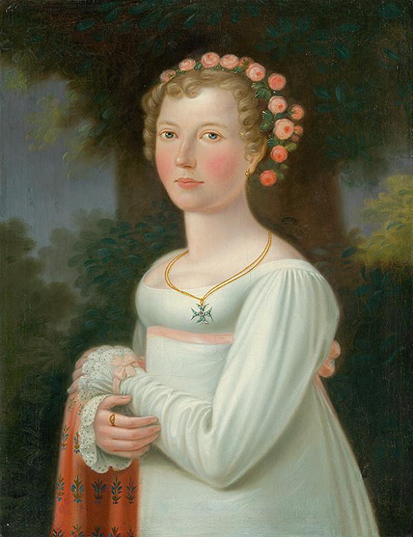 Stredoeurópsky maliar zo začiatku 19. storočia - Podobizeň dievčaťa v bielych šatách