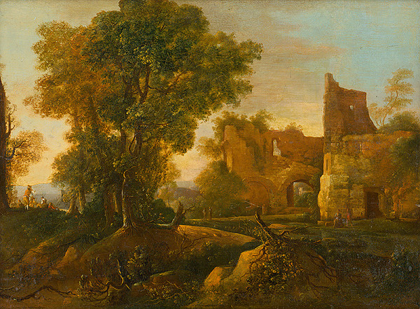 Nemecký maliar zo 17. storočia, Jan Both - Krajina so zrúcaninou