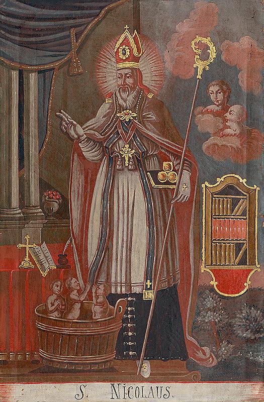 Slovenský ľudový maliar z konca 18. storočia, Neznámy maliar - Svätý Mikuláš