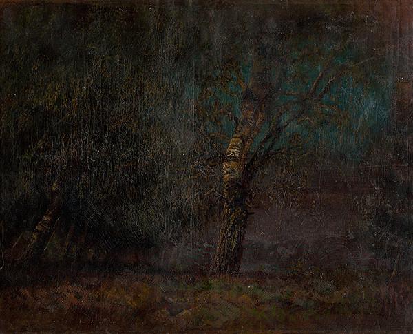 Ladislav Mednyánszky – Vnútro brezového lesa