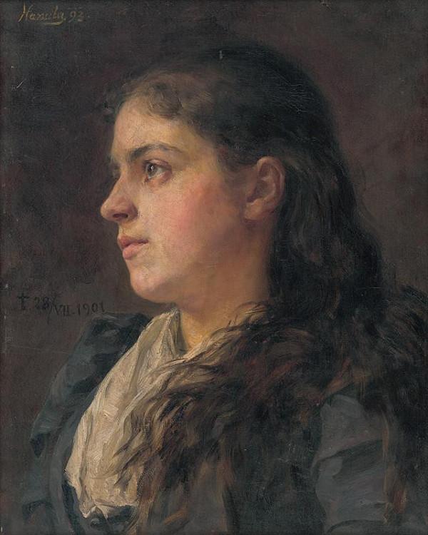 Jozef Hanula – Podobizeň umelcovej manželky