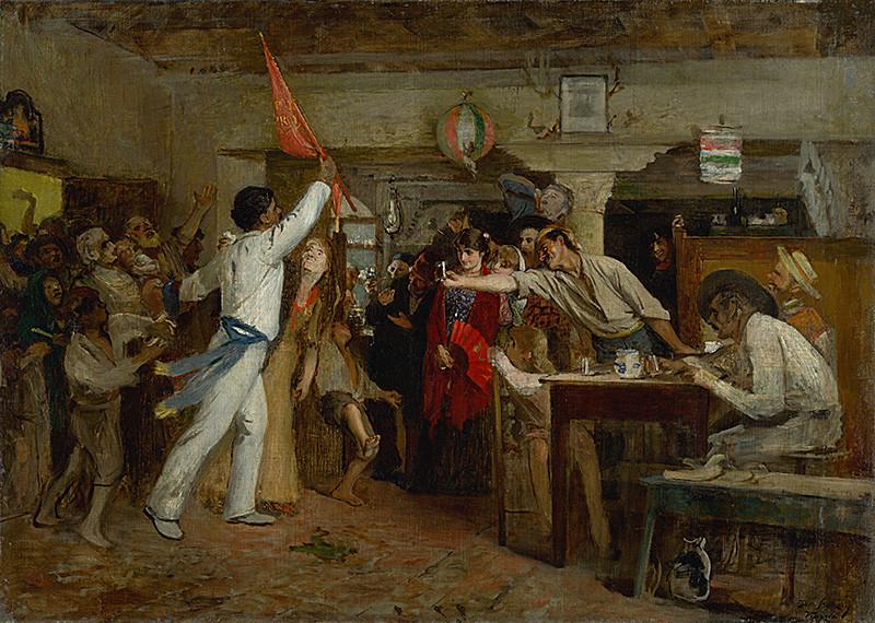 Dominik Skutecký – Víťaz regaty, okolo 1885, Slovenská národná galéria