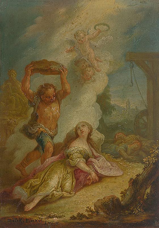 Jozef Adam von Mölck – Umučenie svätej Kataríny