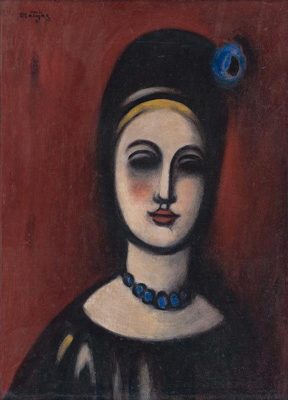 Peter Matejka - Žena v čiernom klobúku