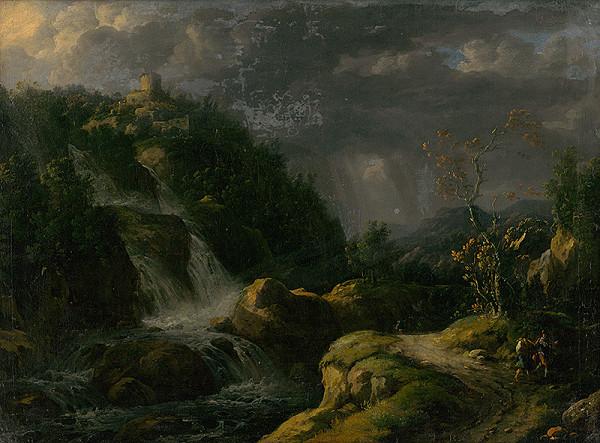 Nemecký maliar z polovice 18. storočia - Hrad v búrke