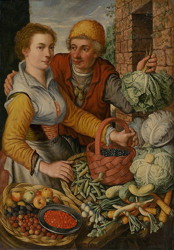 Joachim Beuckelaer – Dvojica so zeleninou a ovocím