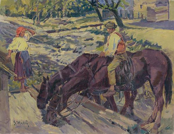 Gustáv Mallý – Napájanie koní