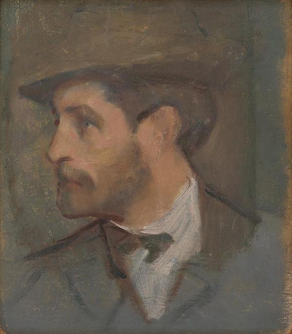Milan Thomka Mitrovský – Autoportrét - malý