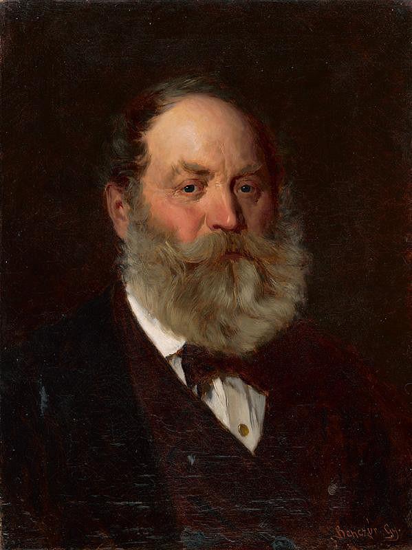 Gyula Benczúr – Podobizeň umelcovho otca Viliama Benczúra