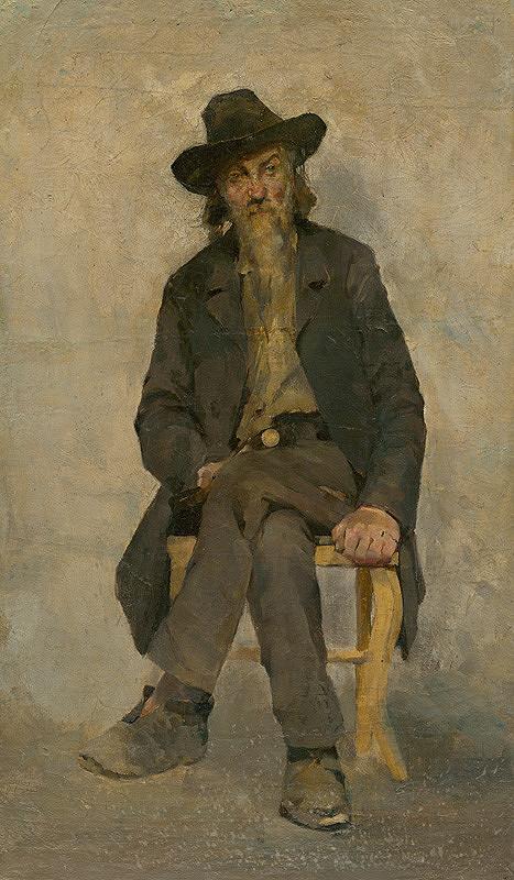 Cyril Kutlík - Štúdia sediaceho starca (Žobrák)