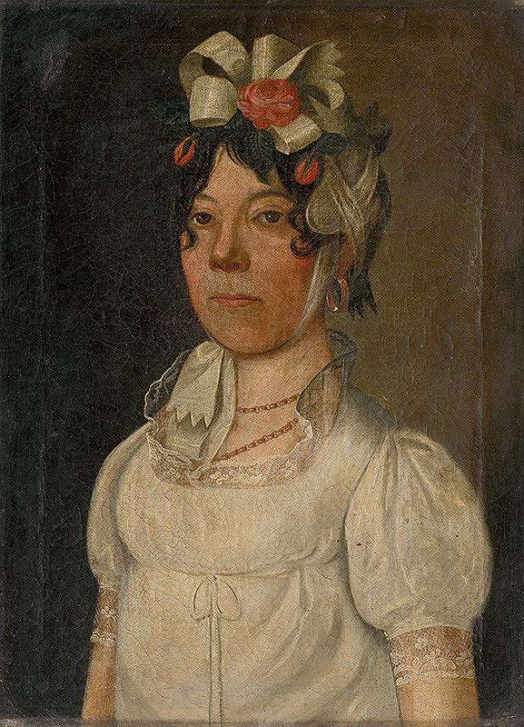 Bratislavský maliar zo začiatku 19. storočia - Podobizeň mladej ženy v bielych šatách