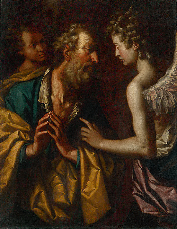 Taliansky maliar zo 17. storočia – Lót a dvaja anjeli