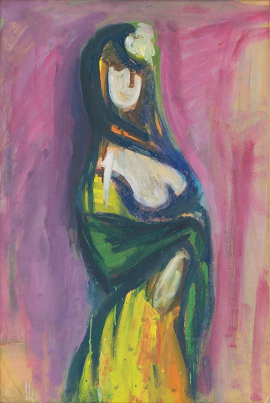 Viliam Chmel – Žena s kvetom a závojom