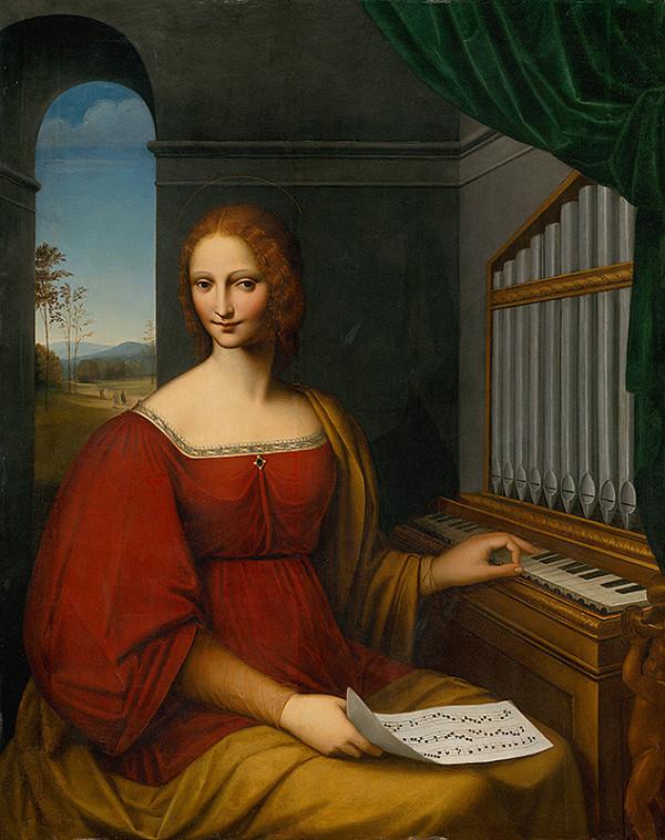 Taliansky maliar - Svätá Cecília
