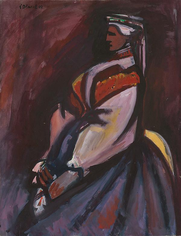 Viliam Chmel – Žena v kroji - z profilu