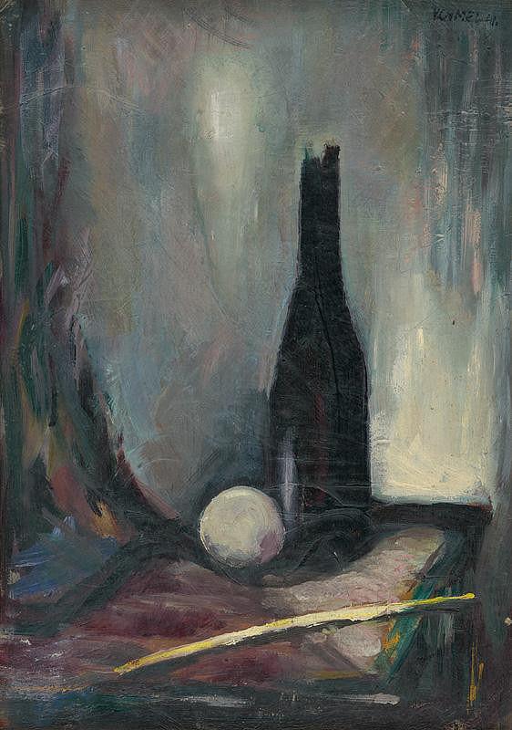 Viliam Chmel – Zátišie s fľašou