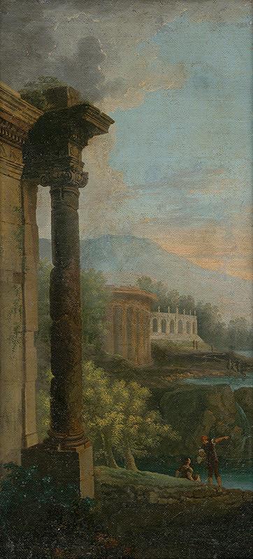 Taliansky maliar z 1. polovice 18. storočia, Giovanni Paolo Pannini – Romantická krajina s architektúrami
