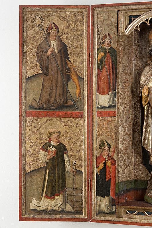 Slovenský maliar z 1. štvrtiny 16. storočia - Svätý Egídius a Svätý Vavrinec, Svätý Kozma-rub