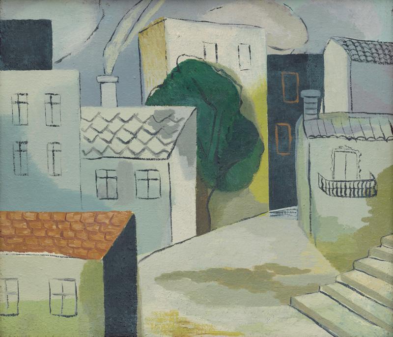 Ester Šimerová-Martinčeková – Ulica, Mestská krajina z Dalmácie, okolo 1936, Slovenská národná galéria