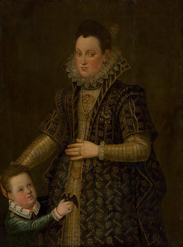 Alonso Sánchez Coello – Vojvodkyňa z Parmy so synčekom, 1570 – 1580, Slovenská národná galéria