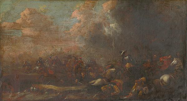 Stredoeurópsky maliar z 18. storočia – Bitevná scéna