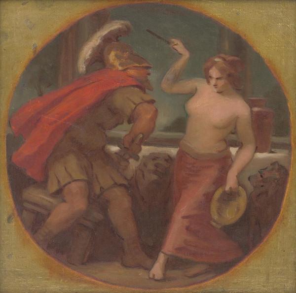 Milan Thomka Mitrovský – Kruhová štúdia kompozície z rímskych dejín