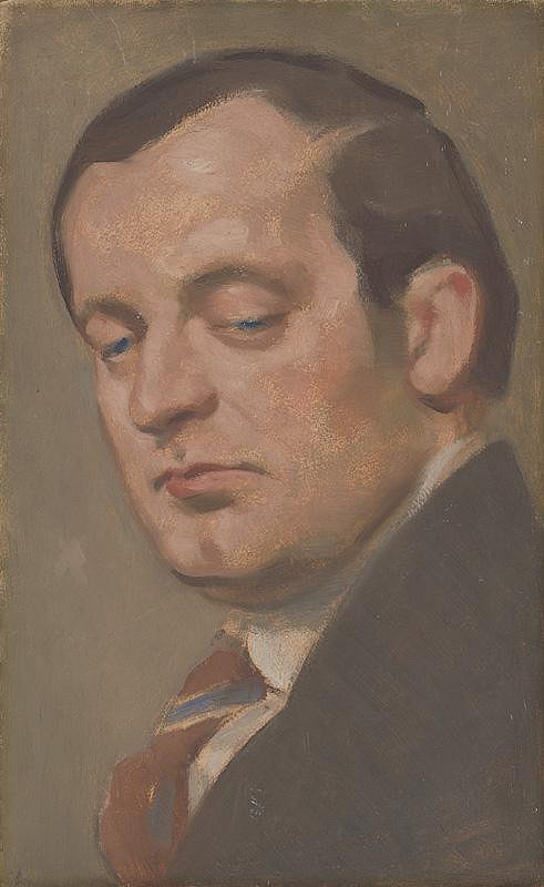 Milan Thomka Mitrovský – Portrét muža s kravatou