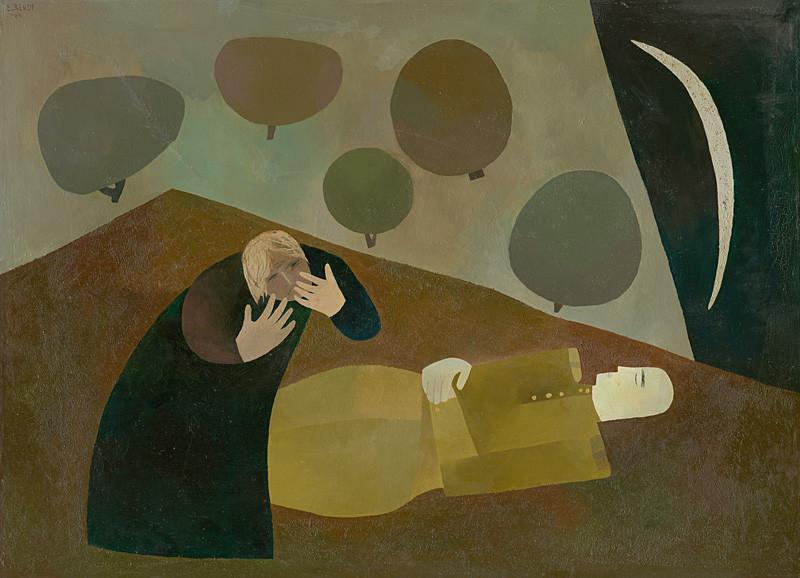 Alexander Eckerdt: Nad mŕtvym priateľom, 1964