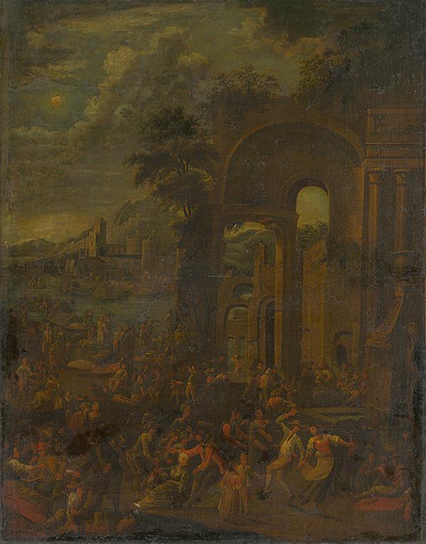 Nemecký maliar, Flámsky maliar z 18. storočia - Ľudová veselica