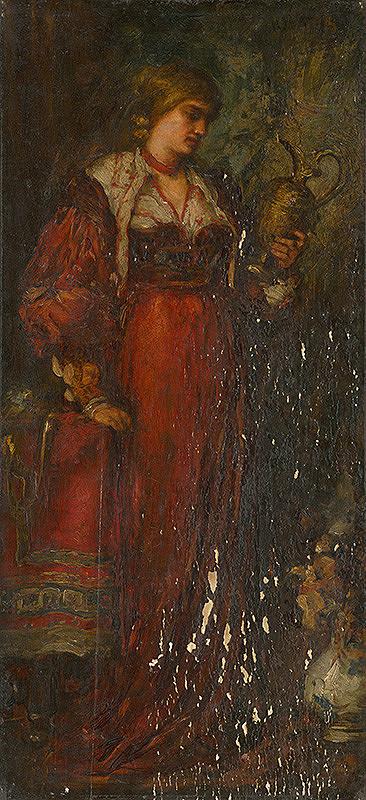 Stredoeurópsky maliar z 2. polovice 19. storočia - Žena s džbánom